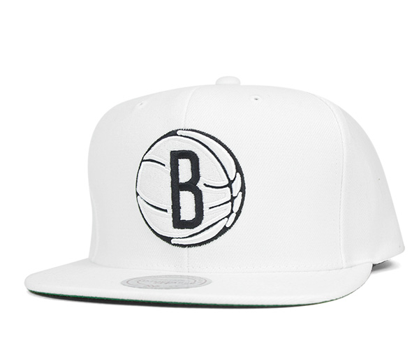 ea139e683d3 Mitchell and Ness snap back Cap wool solid Brooklyn nets white hat MITCHELL  NESS SNAPBACK CAP NBA WOOL SOLID 2 BROOKLYN NETS WHITE  Cap men Hat Snapback
