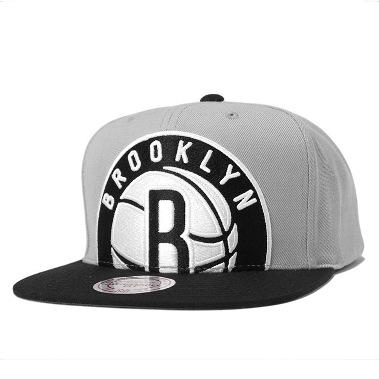 onspotz  Mitchel  amp ness cap snapback NBA Brooklyn Nets cropped XL ... 424bfc2bda6