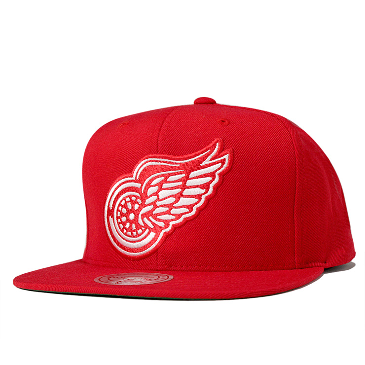 896111f698b ... official store mitchell ness cap snapback vintage wool solid detroit  red wings red hat 76a5b 71f82