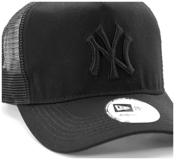 新时代 D 帧卡车司机网帽纽约洋基队黑帽子纽埃尔 D 帧卡车司机纽约洋基黑色新时代帽新时代帽网帽纽埃尔新时代的帽状和 [BK] #CP: M