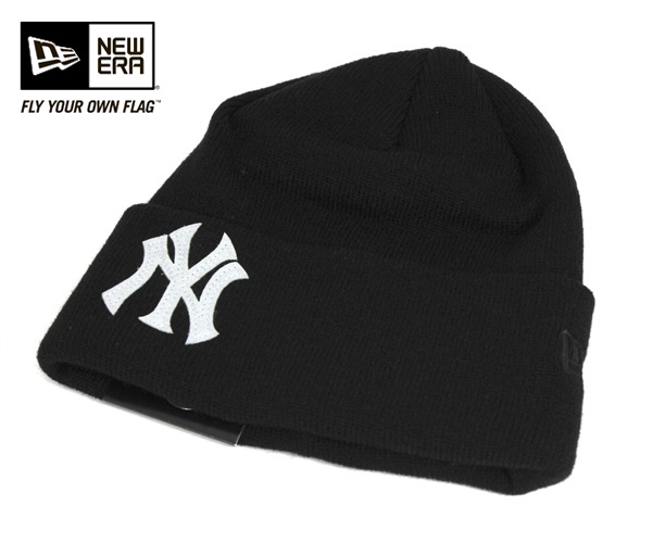 hot sales af54d 76806 New era knit caps team logo New York Yankees black cap NEWERA KNIT CAP TEAM  LOGO ...