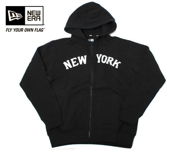 新时代运动衫邮编帽衫帽衫纽约黑纽埃尔汗全 ZIPHOODIE 纽约黑人 [大帽新时代帽新时代帽大小男装女装],[BK] #AP: TP
