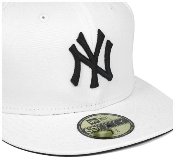 新时代帽纽约洋基队白色帽纽埃尔 59FIFTY 帽纽约洋基队白 #CP: B