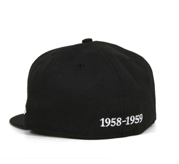 新時代帽大阪老虎黑色帽帽 NPB 經典大阪老虎 1958年-59 黑紐埃爾 59FIFTY [大帽新時代帽新時代帽大小男裝女裝],[BK] #CP: B