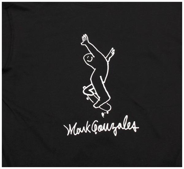 新时代 x 标记 Gonzalez 长袖 T 衬衫性能滑板黑色纽埃尔 × 马克冈萨雷斯 LS 三通性能三通 SKATE2 黑色 #AP: TS