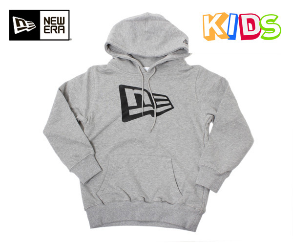 新时代的孩子套衫帽衫国旗图案灰色纽埃尔孩子出汗套衫帽衫国旗标志灰色 [GY] #KD