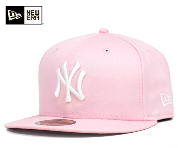 新时代帽纽约洋基队粉红色帽子新时代 59FIFTY 纽约扬基队粉红色