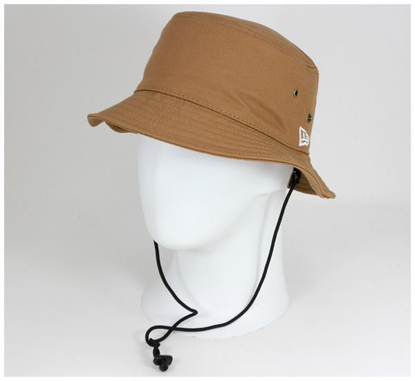 新埃拉吊桶帽子鴨棉布舌頭帽子NEW ERA BUCKET-01 HAT DUCK COTTON TAN