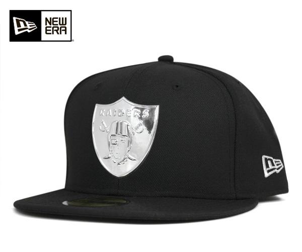 新埃拉盖子奥克兰奇兵队液体铬黑色帽子New Era 59FIFTY CAP NFL OAKLAND RAIDERS LIQUID CHROME BLACK[新埃拉盖子帽子New Era CAP人][BK]#CP:B