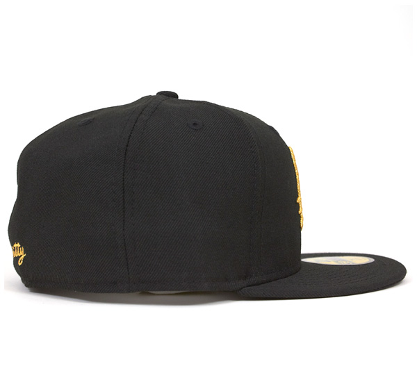 凯蒂猫×新埃拉协作套黑色/黄金NEWERA×HELLO KITTY BASIC LOGO KITTY BLACK / GOLD [帽子套新埃拉new era cap ][BK] #CP:B