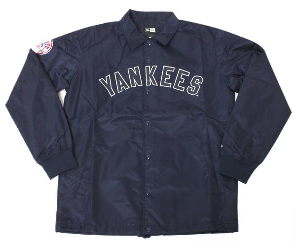 ニューエラ コーチジャケット MLB ニューヨークヤンキース ネイビー アウター メンズ NEW ERA NEWERA