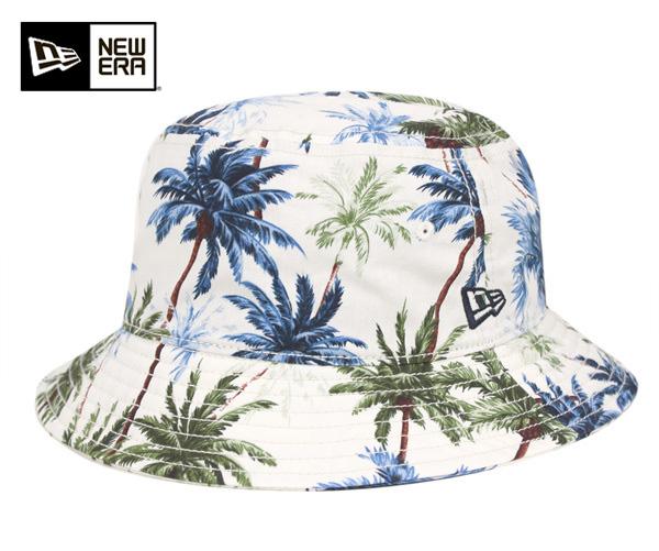New era bucket Hat Palm tree white hat New Era BUCKET-01 HAT PALM TREE WHITE   HA  New Era CAP new era caps Hat men  a3104b0f6bc7