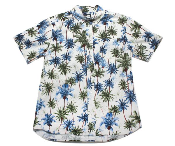 ニューエラ NEW ERA オックスフォード ボタンダウンシャツ パームツリー ホワイト トップス メンズ【返品・交換対象外】