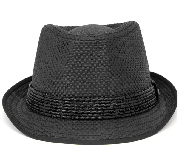 新埃拉舒适之帽麦杆fedoraburakku帽子New Era STRAW HAT FEDORA BLACK[新埃拉麦杆草帽舒适之帽舒适之帽New Era人][BK]#HA:S