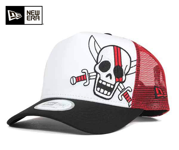 新時代 x 一片網帽小腿白帽子紐埃爾 × 步調一致 9FORTY 網帽 D 幀卡車司機小腿白色 #CP 上網格帽男式帽子帽,[WH]: M