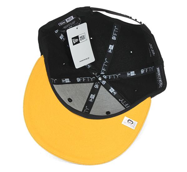新埃拉×连衣裙突然弹回盖子特拉法加女袍框帽子New Era×ONEPIECE 9FIFTY SNAPBACK CAP TRAFALGAR LAW BLACK[盖子人帽子突然弹回][BK]#CP:S