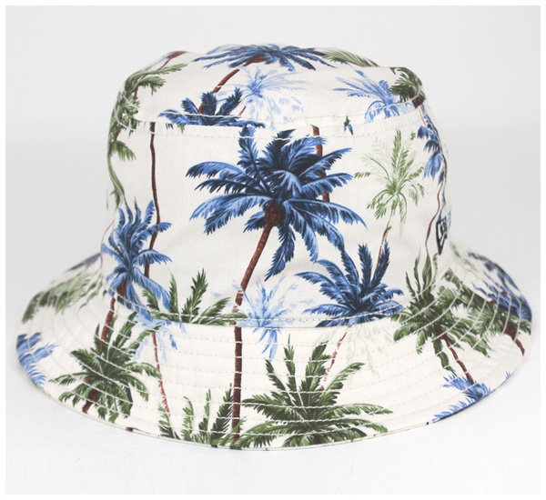 onspotz  New era bucket Hat Palm tree white hat New Era BUCKET-01 ... 5847208ab29a