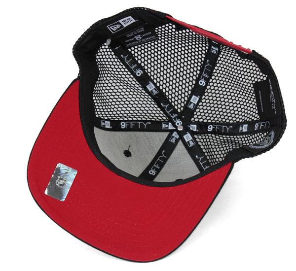 nyueramesshukyapputorakkatagudoshikagoburakkuhokusuburakku| NEW ERA 9FIFTY MESH CAP TRUCKER TAGGED CHICAGO BLACKHAWKS BLACK[网丝盖子人帽子盖子][BK]#CP:M