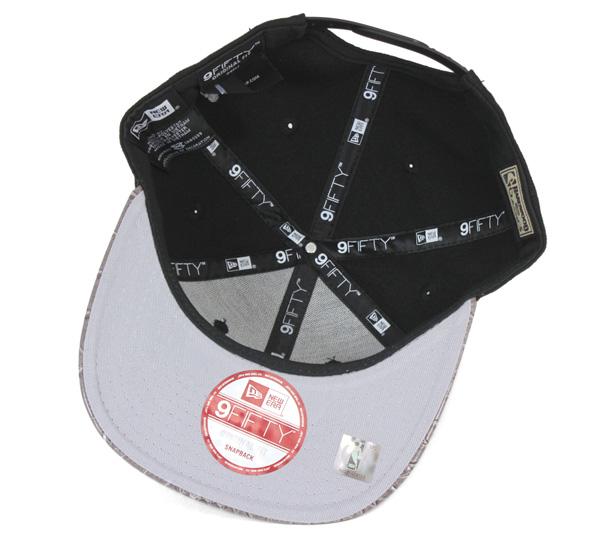 新時代業績回升帽校稿皮邁阿密熱火黑色帽紐埃爾 9FIFTY 業績回升帽 VIZE SKINZ 邁阿密熱火黑 [帽男子帽子業績回升] [BK] #CP: S