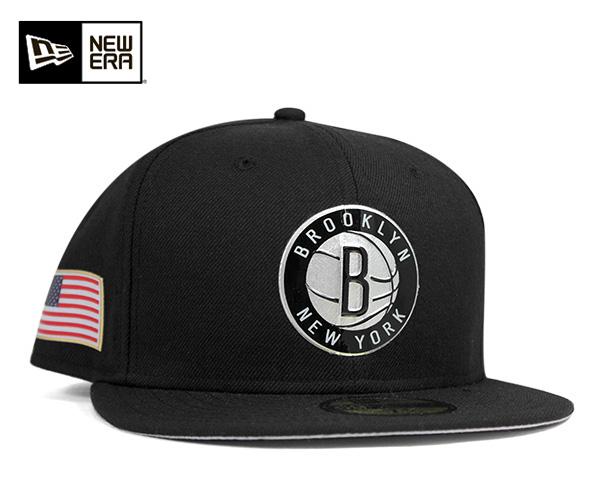 New era Cap Brooklyn? nets heat seal black cap NEWERA 59FIFTY CAP NBA BROOKLYN NETS HEAT SEAL BLACK [Cap men Hat baseball cap 10P01Oct16