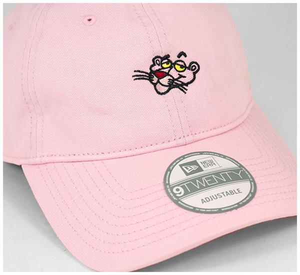 NEW ERA(新埃拉)9TWENTY蓋子協作粉紅Panther小粉紅  PINK PANTHER STRAPBACK CAP MINI PINK   帽子人低卡普斯陷井背