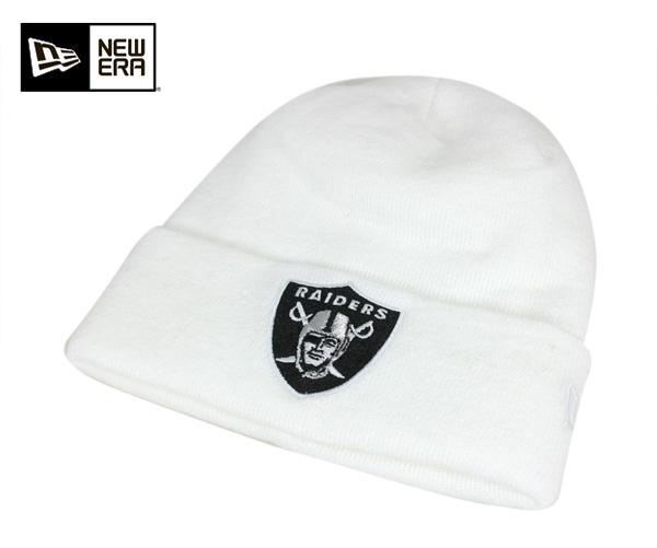 97db600c1fd New era knit Cap knit Cap basic CAVNET Oakland Raiders team logo White Cap NEWERA  KNIT CAP NFL BASIC CUFF KNIT OAKLAND RAIDERS WHITE Hat new era cap new era  ...