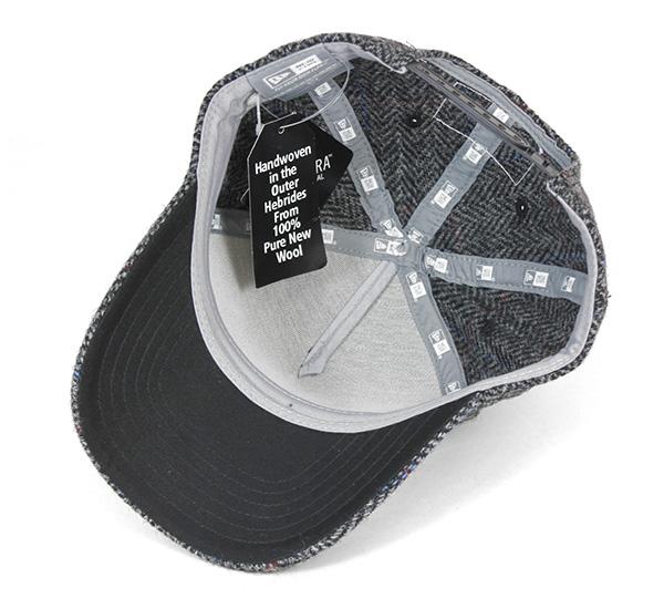 新时代 x 哈里斯粗花呢高尔夫业绩回升鸭舌帽铬风笔帽帽子纽埃尔 × 哈里斯粗花呢高尔夫 9fortk 业绩回升帽 D 帧铬窗玻璃