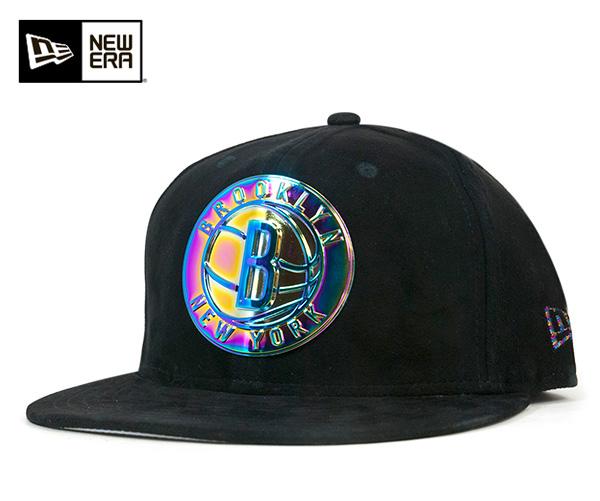 ニューエラ キャップ 59FIFTY NBA ブルックリン ネッツ デラックス スウェード ブラック NEW ERA 帽子 メンズ レディース