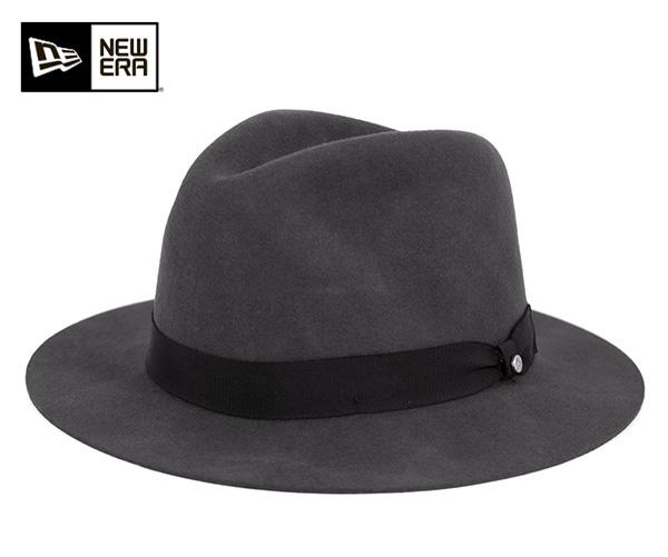 ニューエラ NEW ERA FEDORA 中折れハット ロングブリム グラファイト 帽子 メンズ レディース フェドラ 【返品・交換対象外】