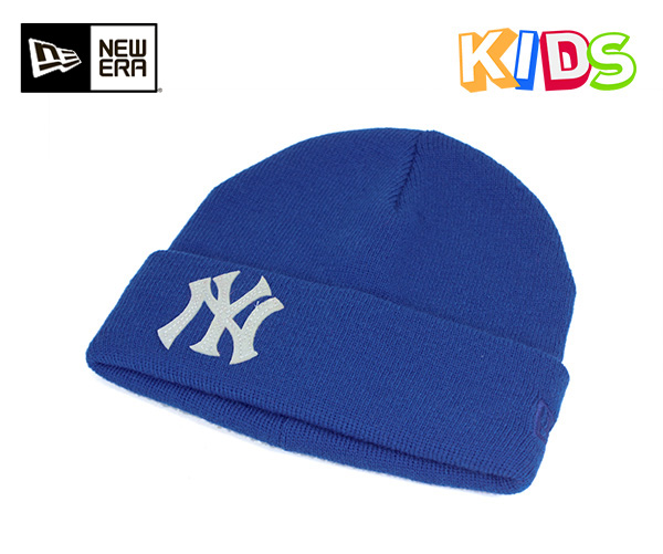 on sale 08a16 1c757 New gills kids knit cap knit hat New York Yankees basic caph team logo  royal hat ...