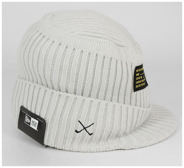 98849e5ca New era Golf Visor knit Cap knitted hats flat top patch ivory Cap NEWERA  GOLF VISOR KNIT CAP FLAT TOP PATCH IVORY