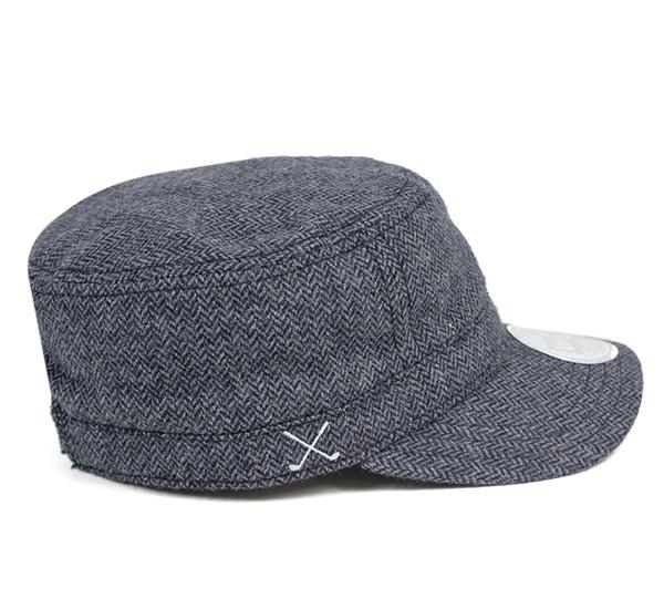 New era Golf work military Cap adjustable Tweed chrome charcoal Hat Cap NEWERA GOLF WM-01 CAP ADJUSTABLE TWEED CHROME CHARCOAL