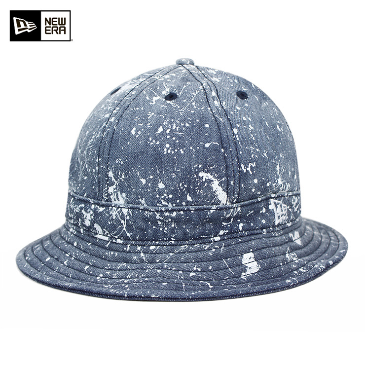 nyueraekusupurorahattosupurasshupeintouosshudodenimu帽子NEW ERA EXPLORER HAT SPLASH PAINT WASHED DENIM