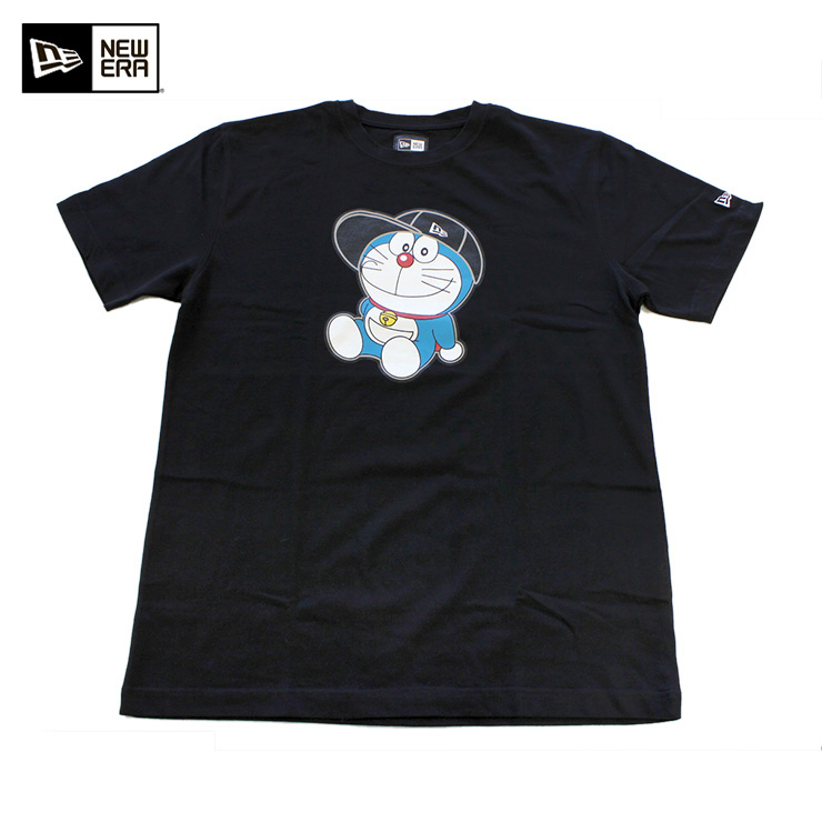 新埃拉哆啦A梦T恤人物黑色NEW ERA DORAEMON TEE SHIRT CHARACTER BLACK