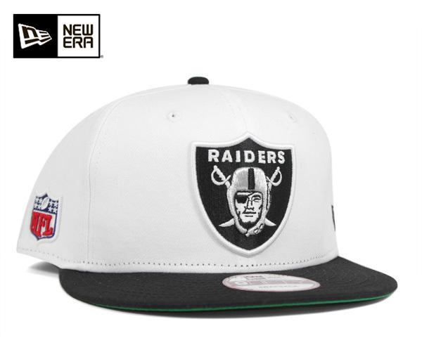 15371b0be43970 New gills NEW ERA 9FIFTY snapback cap NFL Oakland Raiders white / black  11308458 hat men ...