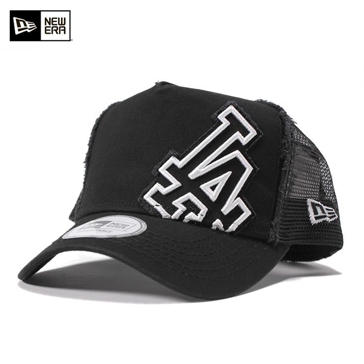 New era D frame trucker mesh Cap Los Angeles Dodgers black cap NEWERA D- FRAME ... 914bacd6478