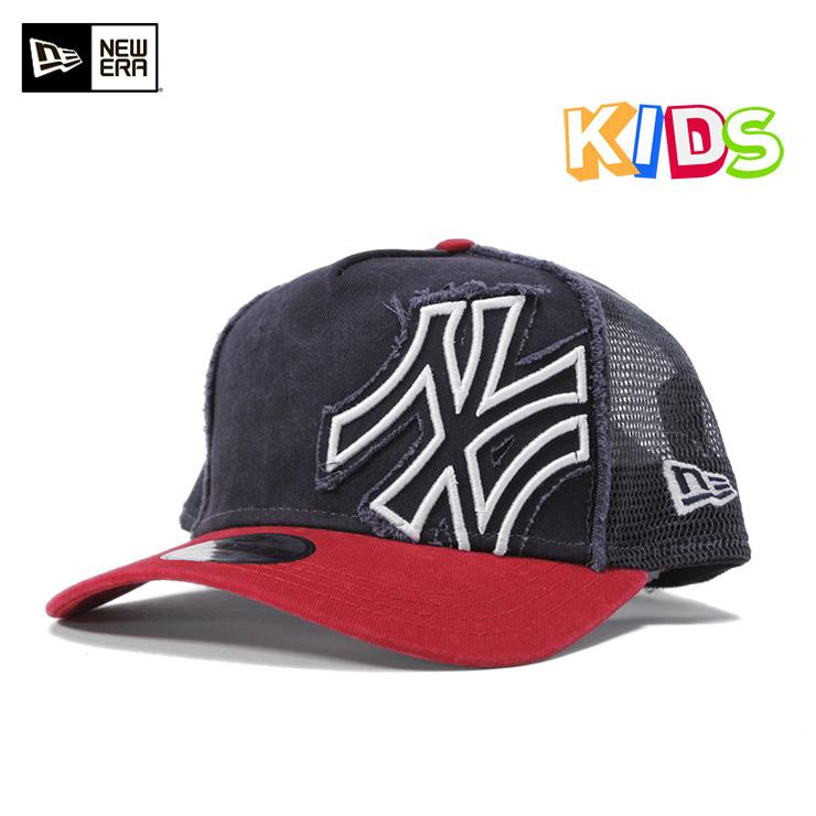 New era kids caps A frame Tracker New York Yankees battalion Navy Cap  NEWERA KIDS 9FORTY ... 591ac9eb3fc3
