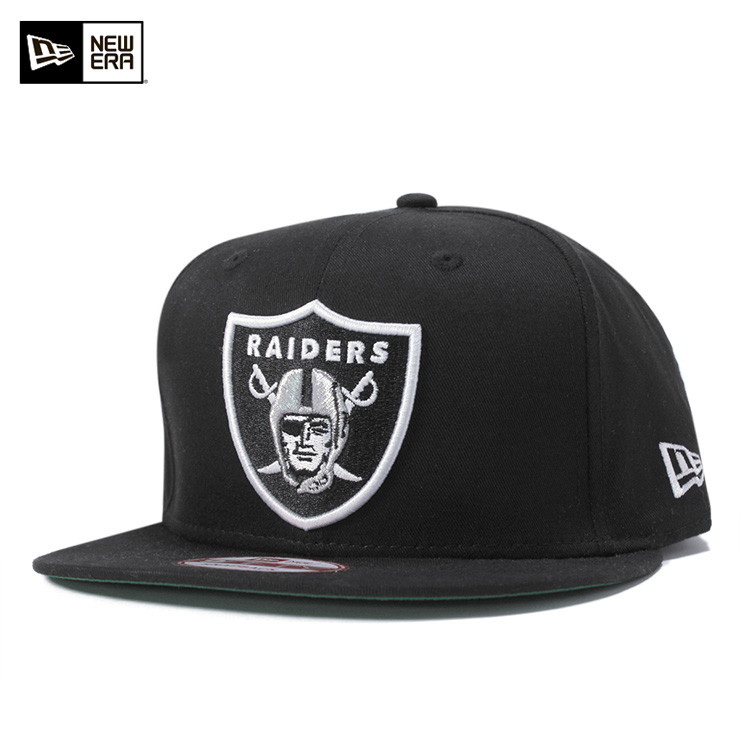 ff986b88274945 New era Cap Snapback shield Oakland Raiders Black Hat NEWERA SNAPBACK CAP  NFL OAKLAND RAIDERS ...