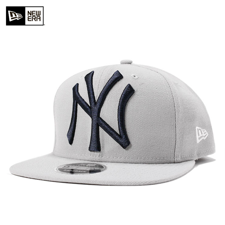 8ee3aca1788 New gills 9FIFTY snapback cap original fitting MLB New York Yankees ground  logo gray NEW ERA