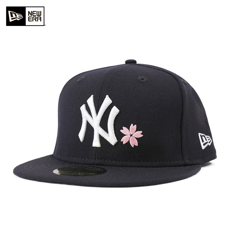 New gills 59FIFTY cap cherry tree New York Yankees navy NEW ERA hat men gap Dis