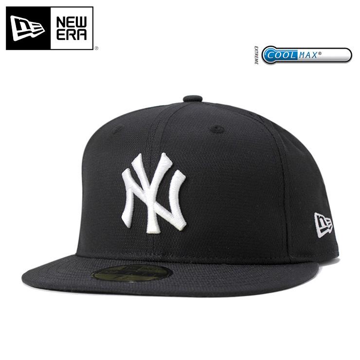 ニューエラ キャップ オンスポッツ別注 59FIFTY クールマックス ドビーストレッチ MLB ニューヨークヤンキース ブラック NEW ERA ONSPOTZ ORIGINAL COOLMAX