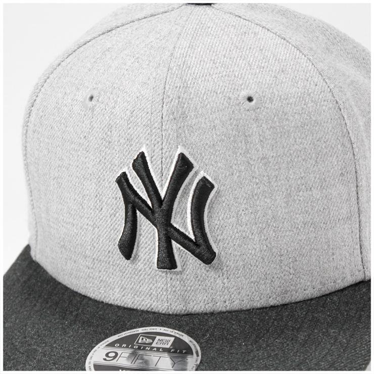 新埃拉小孩9FIFTY突然彈回蓋子原始物合身希瑟行動MLB紐約揚基隊灰色NEW ERA KIDS帽子男人的子女的孩子