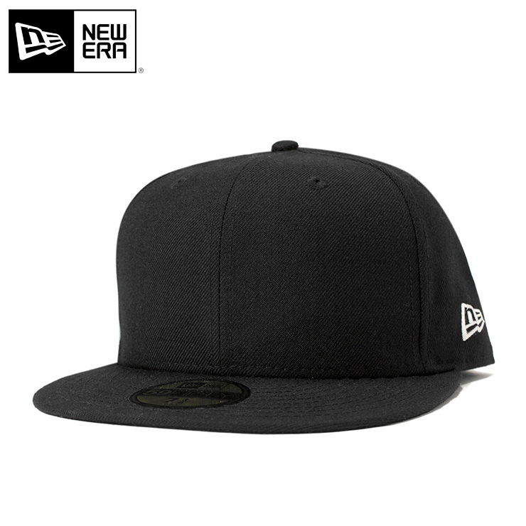 onspotz  New era caps blank caps black cap NEWERA BASIC 5950 BLACK ... 50c98e67836