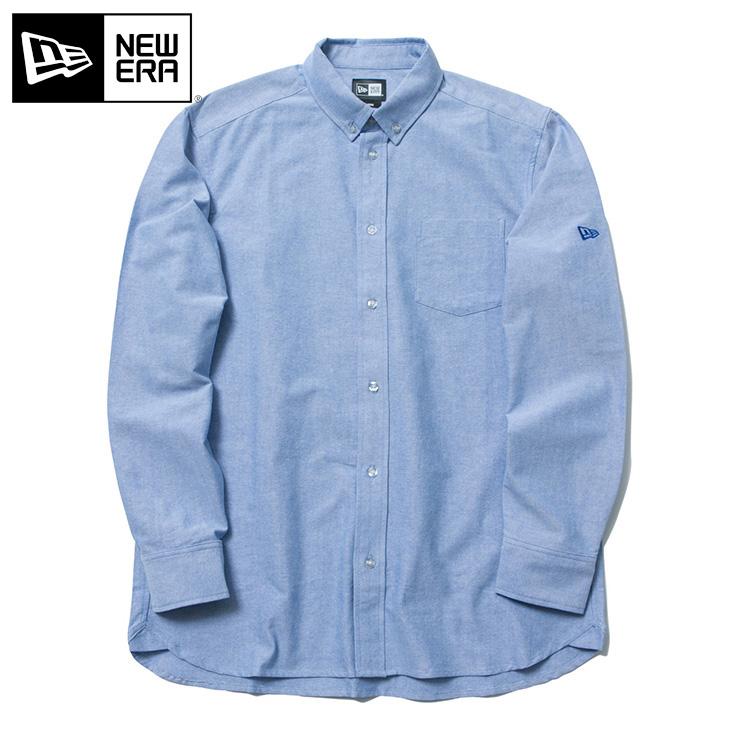 ニューエラ NEW ERA ボタンダウンシャツ オックスフォード ライトブルー トップス メンズ