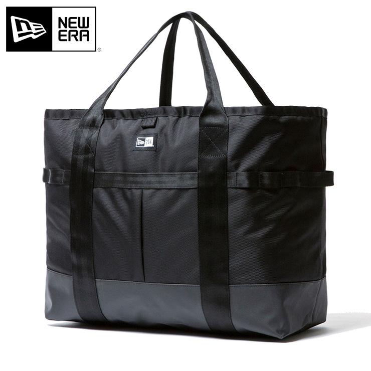 ニューエラ NEW ERA トートバッグ ラージ 42L ブラック 鞄 メンズ レディース TOTE BAG LARGE 1680D new era newera ブランド デイパック 通勤 機能性 おしゃれ 通学 インナーポケット ニューエラリュック メンズバッグ レディースバック バック