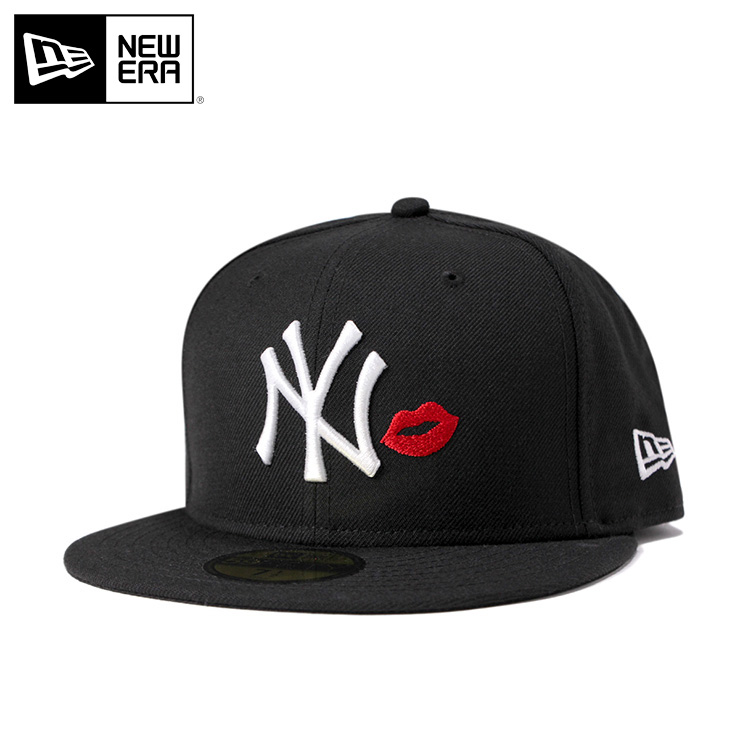 2fe77dcdc06bd New gills 59FIFTY cap MLB New York Yankees lip black NEW ERA hat men gap Dis
