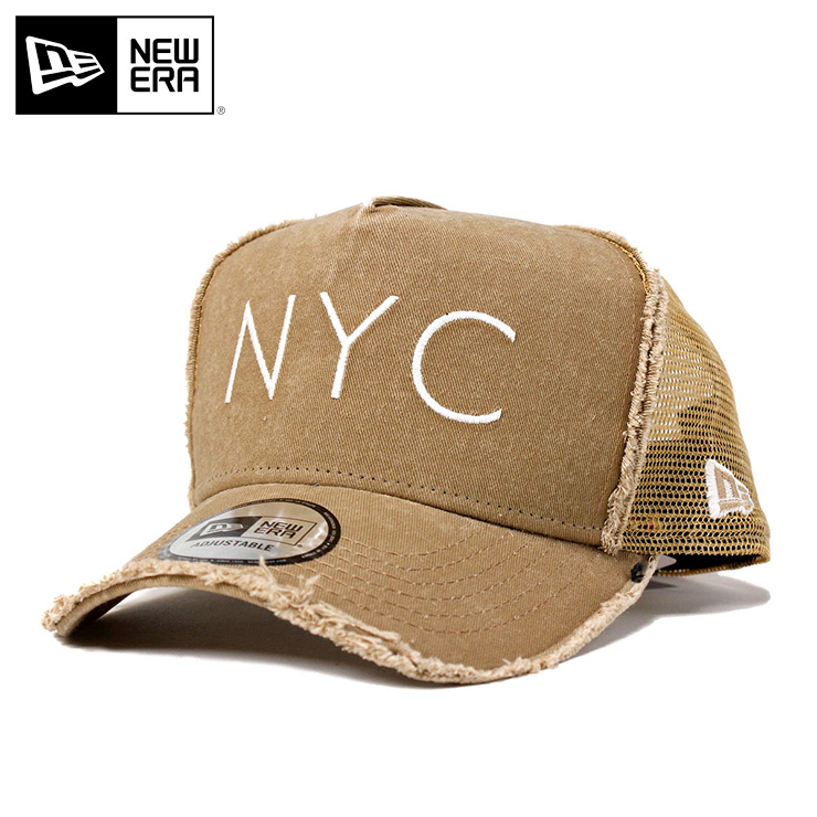 0a1ab225f62b3 onspotz  New gills mesh cap 9FORTY D-FRAME DAMAGED NYC khaki damage ...