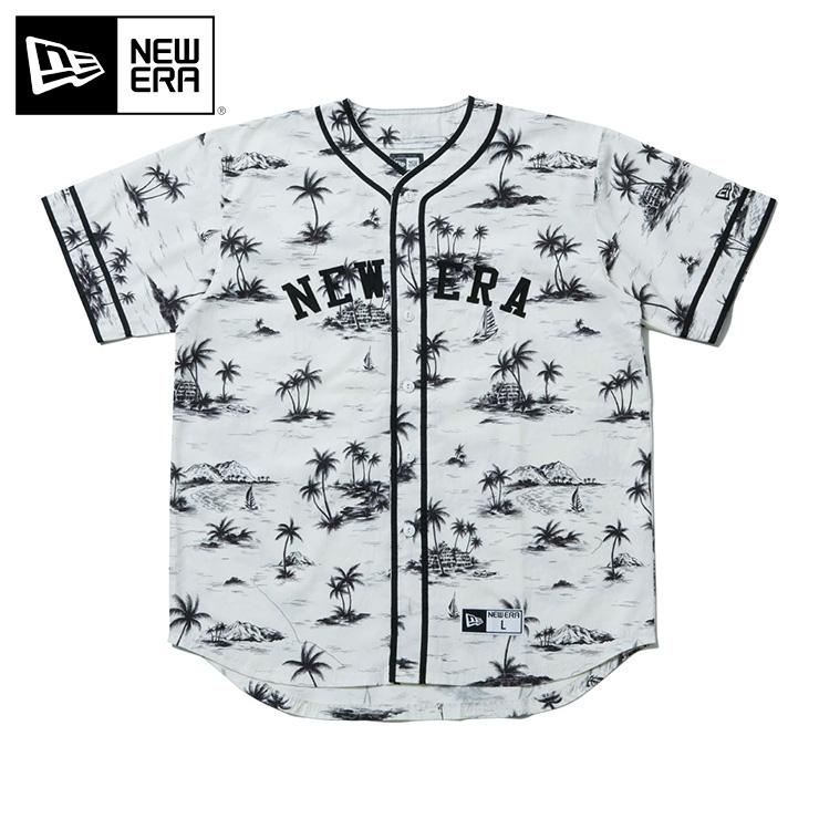 ニューエラ Tシャツ ベースボール アロハ ホワイト NEW ERA 半袖 半そで 白 new era メンズTシャツ ストリート ヒップホップ おしゃれ newera 半袖Tシャツ 野球