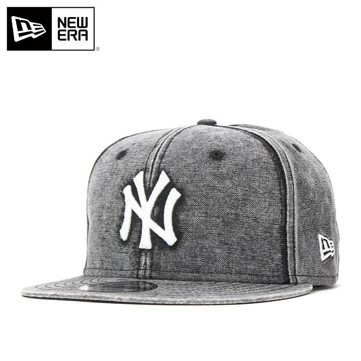 ニューエラ キャップ スナップバック 9FIFTY ITALIAN WASH DUCK CANVAS MLB ニューヨークヤンキース ブラック NEW ERA ぼうし メンズキャップ レディースキャップ ブランド 夏 おしゃれ メンズ帽子 レディース帽子 new era newera ニューエラキャップ5Rq3j4AL