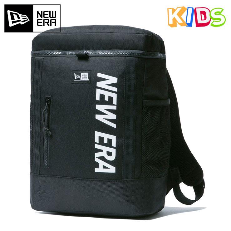 ニューエラ キッズ リュック 15L ボックスパック PRINT LOGO ブラック/ホワイト NEW ERA KIDS ブランド new era おしゃれ ストリート newera バックパック リュックサック バック リュック 鞄 かばん 高機能